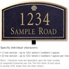 Salsbury 1422BGSL Signature Series Address Plaque