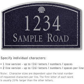 Salsbury 1422BSSS Signature Series Address Plaque