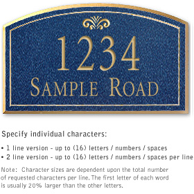 Salsbury 1422CGFS Signature Series Address Plaque