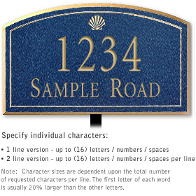 Salsbury 1422CGSL Signature Series Address Plaque