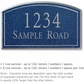 Salsbury 1422CSNS Signature Series Address Plaque