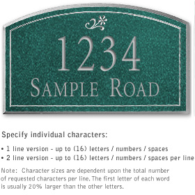 Salsbury 1422JSDS Signature Series Address Plaque