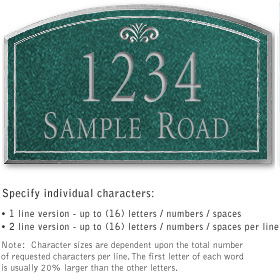 Salsbury 1422JSFS Signature Series Address Plaque