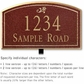 Salsbury 1422MGDL Signature Series Address Plaque