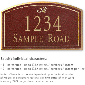 Salsbury 1422MGDS Signature Series Address Plaque