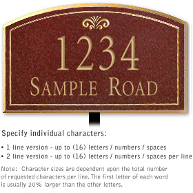 Salsbury 1422MGFL Signature Series Address Plaque