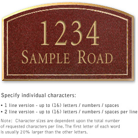 Salsbury 1422MGNS Signature Series Address Plaque