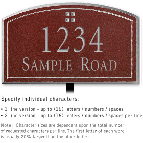 Salsbury 1422MSGL Signature Series Address Plaque