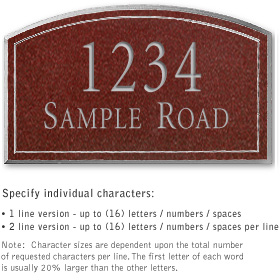 Salsbury 1422MSNS Signature Series Address Plaque