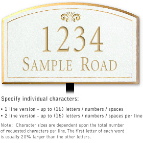 Salsbury 1422WGFL Signature Series Address Plaque