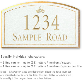 Salsbury 1422WGIS Signature Series Address Plaque