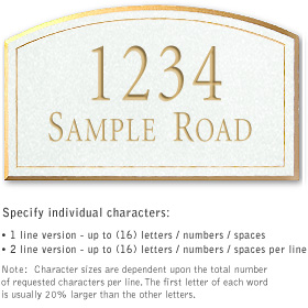 Salsbury 1422WGNS Signature Series Address Plaque