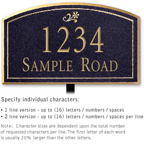 Salsbury 1421BGDL Signature Series Address Plaque