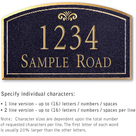Salsbury 1421BGFS Signature Series Address Plaque