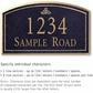 Salsbury 1421BGIS Signature Series Address Plaque