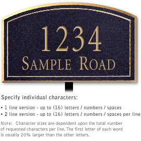 Salsbury 1421BGNL Signature Series Address Plaque