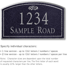 Salsbury 1421BSFS Signature Series Address Plaque