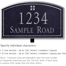 Salsbury 1421BSGL Signature Series Address Plaque