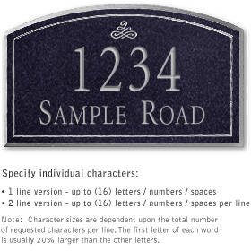 Salsbury 1421BSIS Signature Series Address Plaque