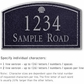 Salsbury 1421BSSS Signature Series Address Plaque
