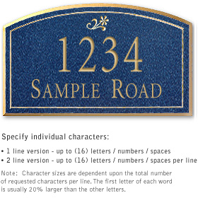 Salsbury 1421CGDS Signature Series Address Plaque