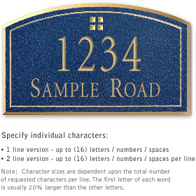 Salsbury 1421CGGS Signature Series Address Plaque