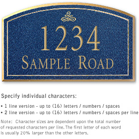 Salsbury 1421CGIS Signature Series Address Plaque