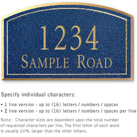 Salsbury 1421CGNS Signature Series Address Plaque