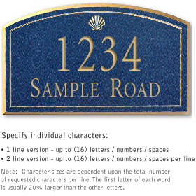 Salsbury 1421CGSS Signature Series Address Plaque
