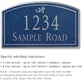 Salsbury 1421CSDS Signature Series Address Plaque
