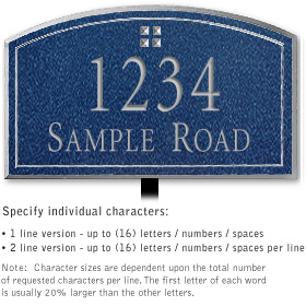 Salsbury 1421CSGL Signature Series Address Plaque
