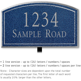 Salsbury 1421CSNL Signature Series Address Plaque