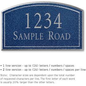 Salsbury 1421CSNS Signature Series Address Plaque