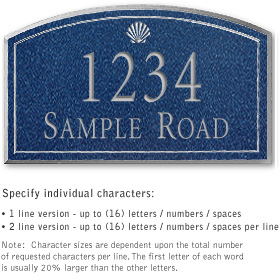Salsbury 1421CSSS Signature Series Address Plaque