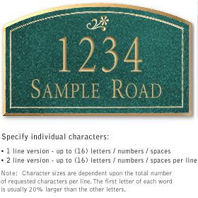 Salsbury 1421JGDS Signature Series Address Plaque