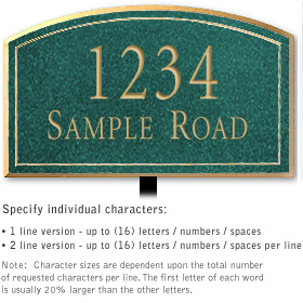 Salsbury 1421JGNL Signature Series Address Plaque