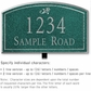 Salsbury 1421JSDL Signature Series Address Plaque