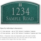 Salsbury 1421JSGS Signature Series Address Plaque