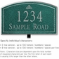Salsbury 1421JSIL Signature Series Address Plaque