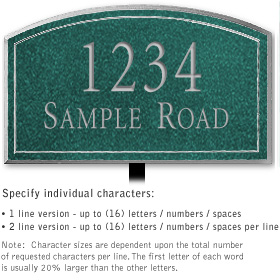 Salsbury 1421JSNL Signature Series Address Plaque