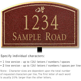 Salsbury 1421MGDL Signature Series Address Plaque