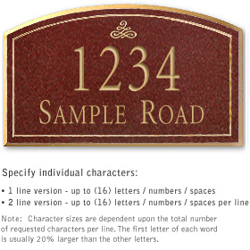 Salsbury 1421MGIS Signature Series Address Plaque
