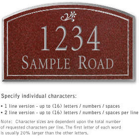 Salsbury 1421MSDS Signature Series Address Plaque