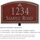 Salsbury 1421MSFL Signature Series Address Plaque