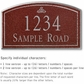 Salsbury 1421MSFS Signature Series Address Plaque