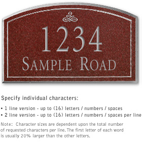 Salsbury 1421MSIS Signature Series Address Plaque