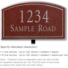 Salsbury 1421MSNL Signature Series Address Plaque