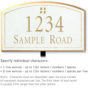 Salsbury 1421WGGL Signature Series Address Plaque