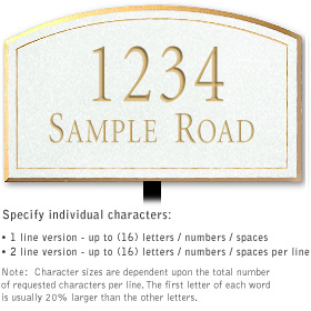 Salsbury 1421WGNL Signature Series Address Plaque