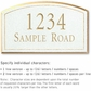 Salsbury 1421WGNS Signature Series Address Plaque